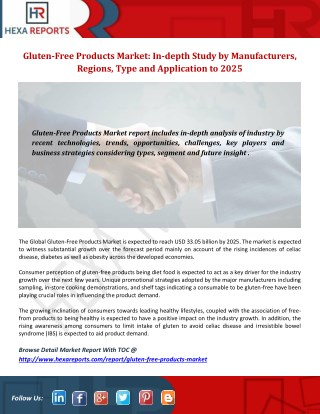 Gluten-Free Products Market Growth Analysis by Region, Type, Applications and Competitive Landscape