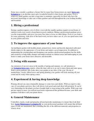 Top 10 reasons to hire a professional gardener