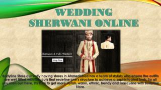 Wedding Sherwani Online
