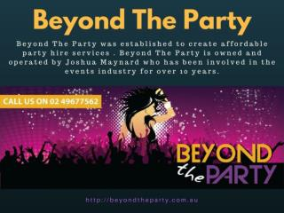 Party Lights Hire - Beyond The Party