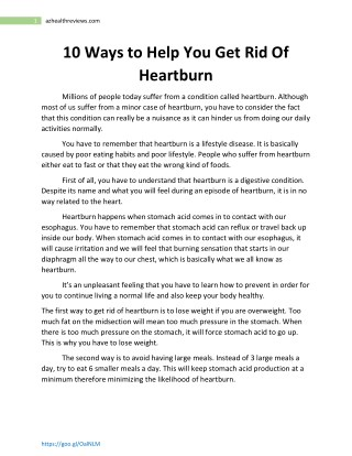 Natural Ways To Ease Heartburn