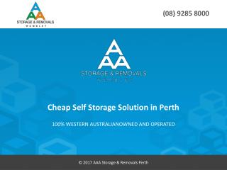 Cheap Self Storage Solution in Perth