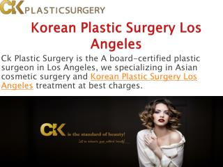 Korean Plastic Surgery in Los Angeles