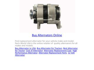 Buy Alternators Online