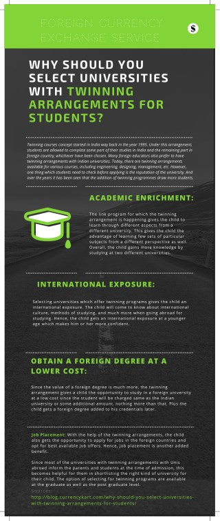 WHY SHOULD YOU SELECT UNIVERSITIES WITH TWINNING ARRANGEMENTS FOR STUDENTS?