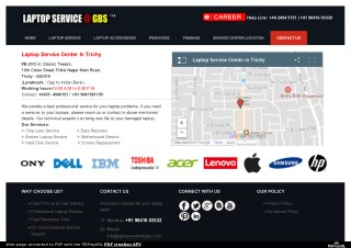 Laptop Service Center in Trichy | Dell-Hp-Lenovo