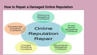 How to Repair a Damaged Online Reputation