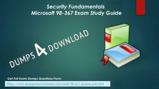 Update Microsoft 98-367 Exam Questions - 98-367 Dumps Questions Dumps4Download