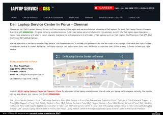 Dell Laptop Service Center in Porur, Chennai