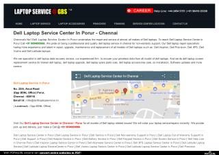 Dell Laptop Service Center In Porur   Dell Service Center In Chennai