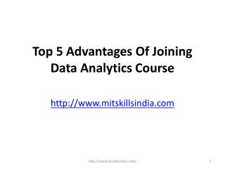 Top 5 Advantages Of Joining Data Analytics Course in India