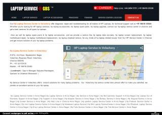 HP Laptop Service Center in Velachery   HP Service In Velachery