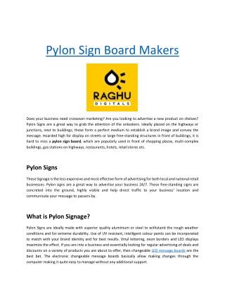 Pylon Signage Manufactures