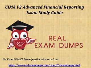 Download Valid CIMA F2 Exam Questions - F2 Exam Dumps PDF