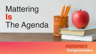 Mattering IS the Agenda Keynote