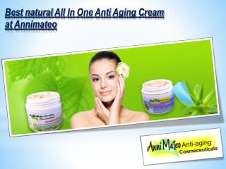 Best natural All In One Anti Aging Cream at Annimateo