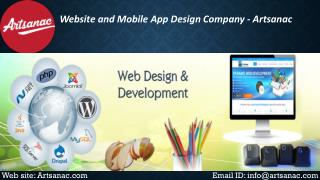 Web Design and Web Development Company – Artsanac