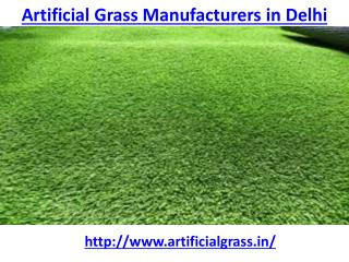 Who is the best artificial grass manufacturers in Delhi
