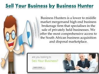 Sell Your Business by Business Hunter