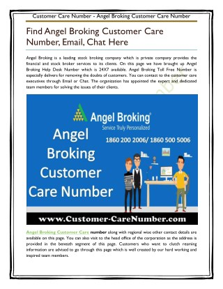 Angel Broking Customer Care Number
