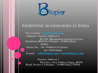 Gemstone Accessories in India