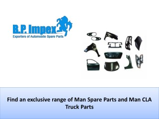 Largest collection Man Spare Parts