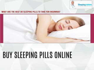 Take Best Sleeping Pills For Insomnia