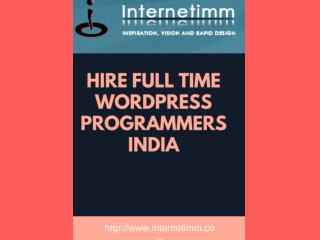 Hire Full Time Wordpress Programmers India