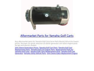 Aftermarket Parts for Yamaha Golf Carts