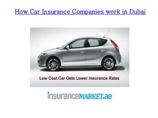 How Car Insurance Companies work in Dubai