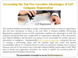 Excavating the Top Five Lucrative Advantages of LLP Company Registration