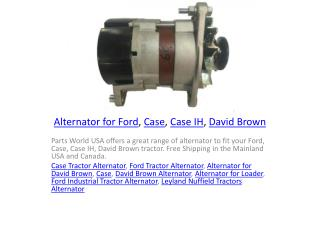 Alternator for Ford, Case, Case IH, David Brown