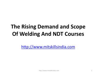 The Rising Demand and Scope Of Welding And NDT Courses