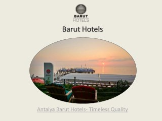 Antalya luxury hotels