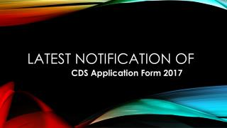 Latest Notification of CDS Admit Card 2017