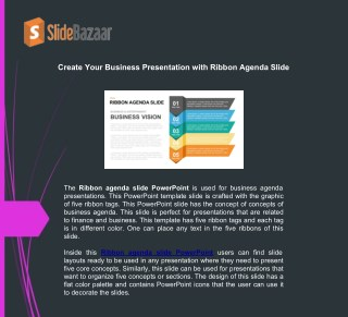 Create Your Business Presentation With Ribbon Agenda Slide
