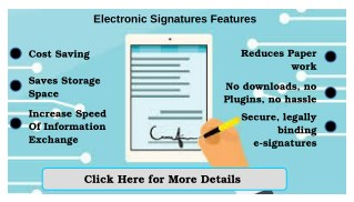 Use Of Electronic Signature Solutions
