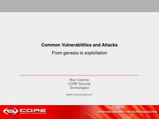 Common Vulnerabilities and Attacks From genesis to exploitation