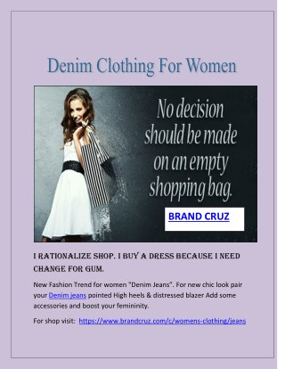 Denim Dresses For Women