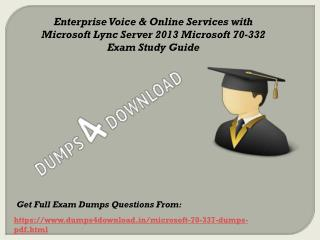 2017 Microsoft 70-337 Exam Questions - 70-337 Braindumps Dumps4Download.in