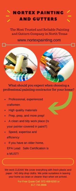 Hire Nortex Painting & Gutters for Reliable Painting Contractors in Fort Worth