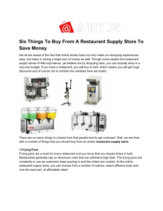 Six Things To Buy From A Restaurant Supply Store To Save Money