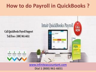 How to do Payroll In QuickBooks ?