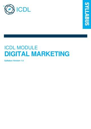 Digital Marketing Training Syllabus ICDL – AcademySID