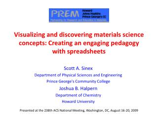 Visualizing and discovering materials science concepts: Creating an engaging pedagogy with spreadsheets