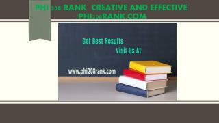 PHI 208 RANK  Creative and Effective /phi208rank.com