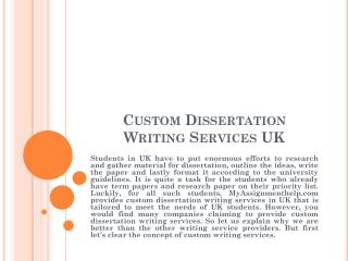 Custom dissertation presentation