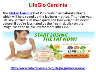 LifeGlo Garcinia Does Really Works?