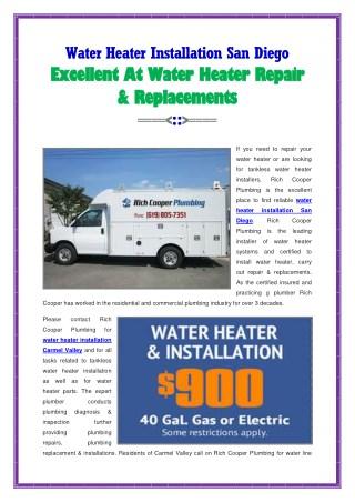 Water Heater Installation San Diego