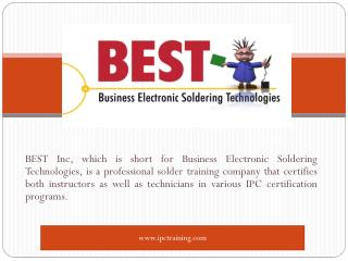 IPC Training and Solder Certification